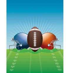 American Football Helmets and Ball vector