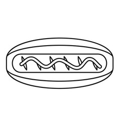 american hot dog icon outline style vector image