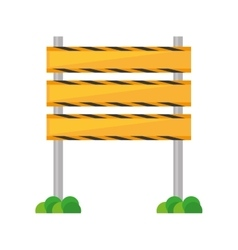 barrier under construction road vector image