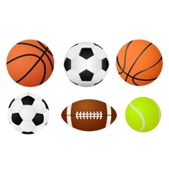Basketball ball soccer ball tennis ball and vector image