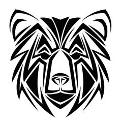 bear tattoo animal design vector image