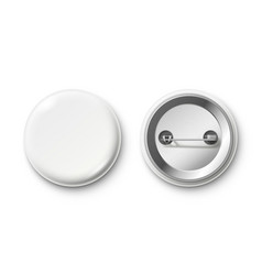 blank button badge white pinback badges pin vector image