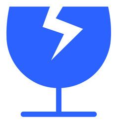 broken glass cup icon vector image