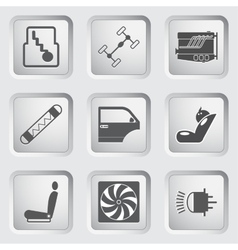 Car part and service icons set 3 vector image
