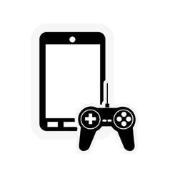 cellphone and game controller icon vector image