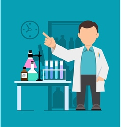 Character scientist doctor vector image