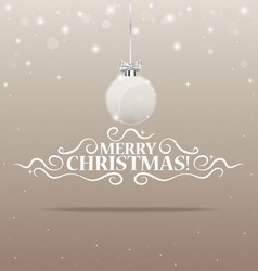 Christmas lettering greetings card and Christmas vector image