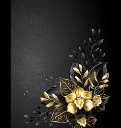 composition black orchids vector image