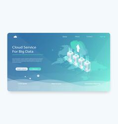 concept of server hosting vector image