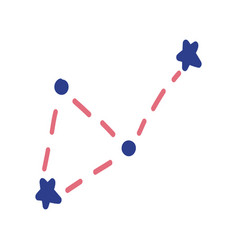 constellations made in a doodle style graphics of vector image
