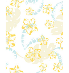 creative floral exotic seamless pattern vector image