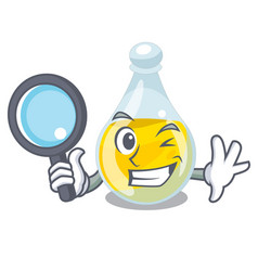 Detective sesame oil isolated with the cartoon vector