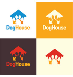 dog house logo and icon vector image