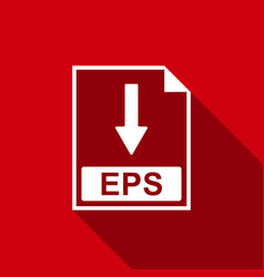 eps file document icon download eps button icon vector image