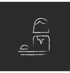 Female receptionist icon drawn in chalk vector