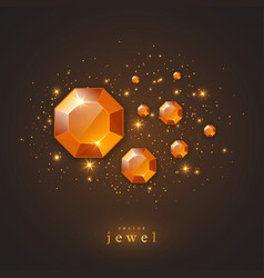 festive holiday background with jewels vector image