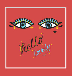 gipsy open eyes with eyelashes and eye shadow vector image
