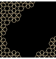 Gold and black mosaic moroccan zellige vector
