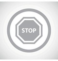 Grey STOP sign icon vector