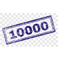 Grunge 10000 rectangle stamp vector