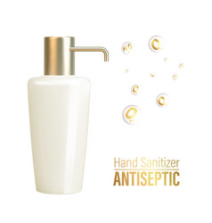 hand sanitizer gel ads antibacterial effect vector image