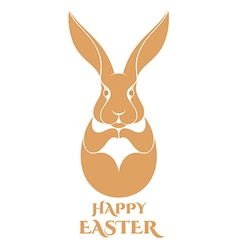 Happy Easter Hare vector image