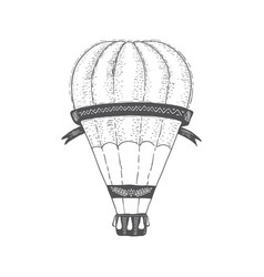 Hot air ballon vintage transport travel vector