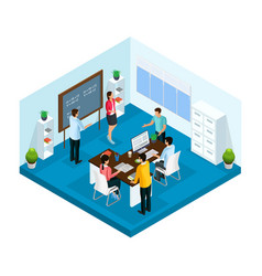 Isometric learning process in university template vector