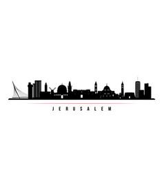 jerusalem skyline horizontal banner vector image