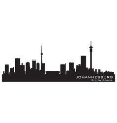 Johannesburg south africa skyline detailed vector