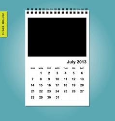 July 2013 calendar vector
