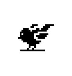 Little bird pixel icon animal vector