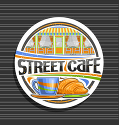 Logo for street cafe vector