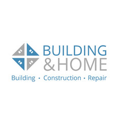 logo on construction repair and engineering vector image