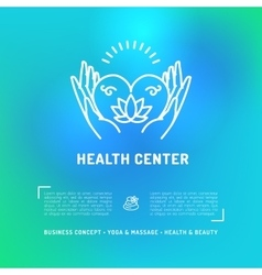 Medical Center Health Card Flyer beauty salon vector