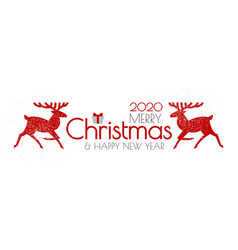 merry christmas and happy new year flyer vector image