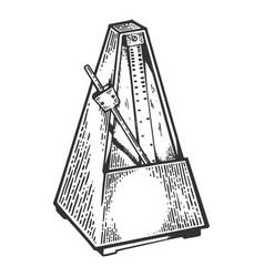 metronome tool engraving vector image