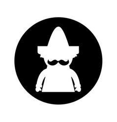 Mexican man avatar character vector