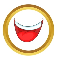 Mouth clown icon vector image
