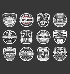 online casino poker wheel fortune gambling vector image