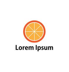orange fruit image vector image