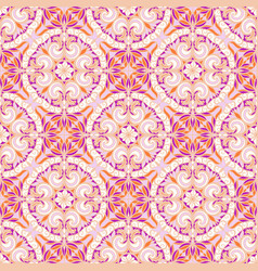 Pattern with arabesques vector