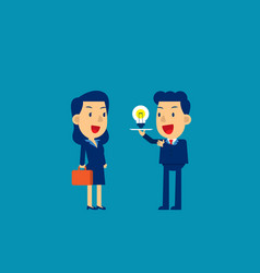 present new idea concept business vector image