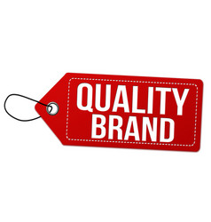 quality brand label or price tag vector image