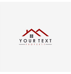 Real estate apartment property business logo vector