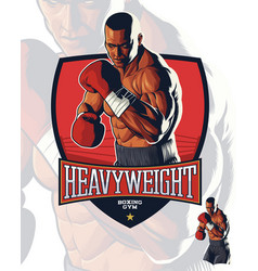 Realistic boxing fighter vector