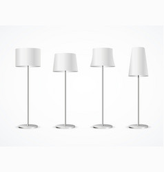 realistic detailed 3d white blank floor lamp set vector image