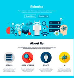 robotics website design vector image
