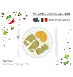 Romanian cuisine european national dish vector