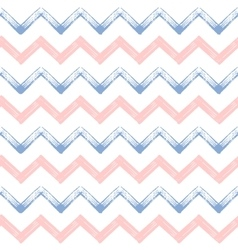 Rose quartz and serenity zigzag chevron grunge vector image